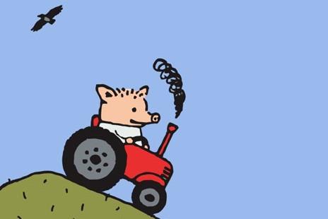 поросенок петр, поросенок на красном тракторе, поросенок на тракторе, пора валить