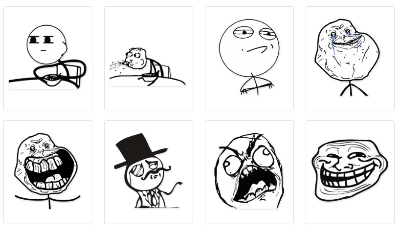 стикеры rage faces