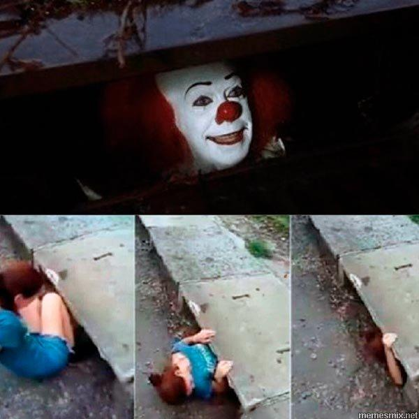 клоун из канализации, клоун в канализации, мем клоун из канализации, мем клоун в канализации, клоун из канализации мем, клоун в канализации мем, клоун в канализации и девушка, клоун в канализации и девушка мем, клоун и девушка, клоун и девушка мем, мем клоун и девушка, клоун оно, кинг оно, оно, стивен кинг оно, оно стивен кинг, клоун кинг, страшный клоун, мем со страшным клоуном, ужастик клоун, откуда картинка с клоуном в канализации, откуда мем про клоуна в канализации