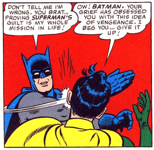 бэтмен бьет робина