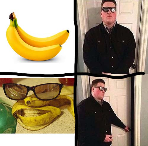 охранник открывает дверь мем (1)
