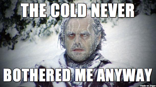 сияние замерзший
