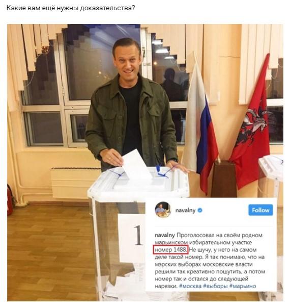 навальный проголосовал