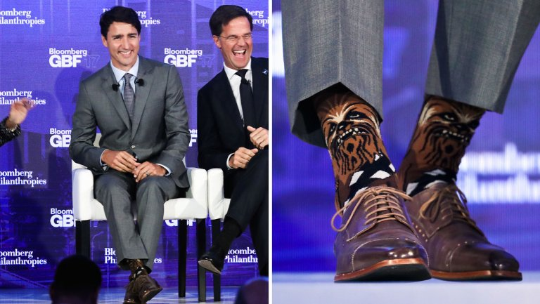 носки премьер-министра Канады Джастина Трюдо
