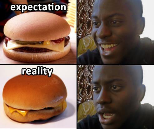 ожидание реальность негр