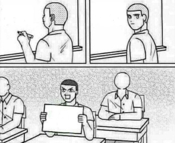 Комикс с подсказкой у доски, Star Wars Math, мем про 47 хромосом, черно-белый комикс