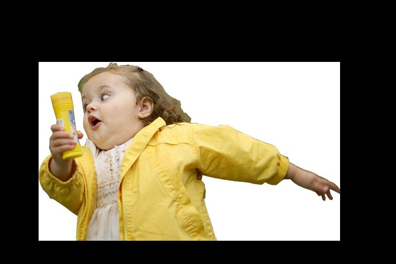 девочка убегает шаблон