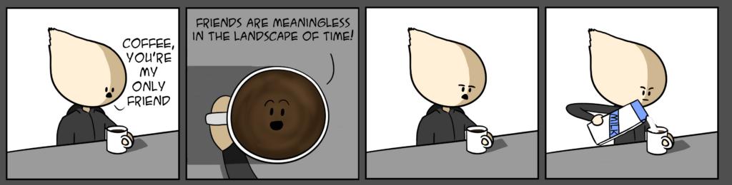 мем говорящий кофе