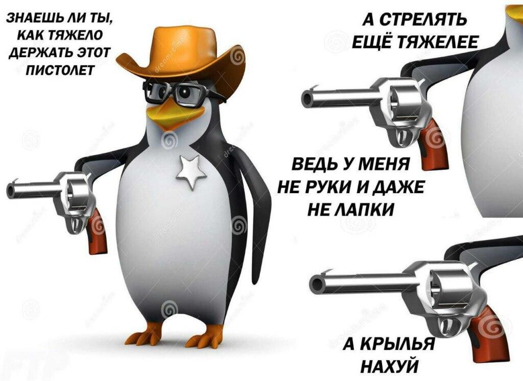мем пингвин с пистолетом (1)