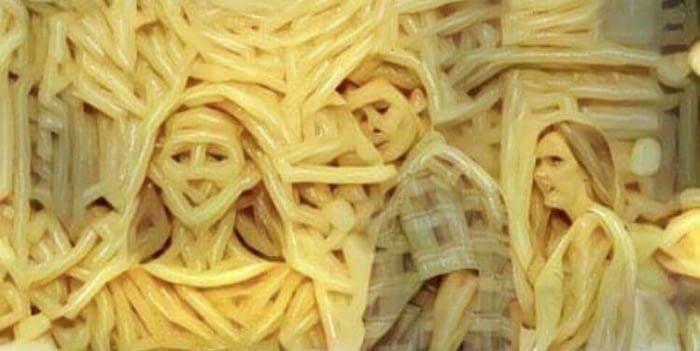 рисунки из спагетти (5)