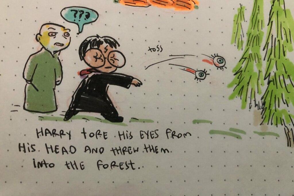 гарри выряет глаза