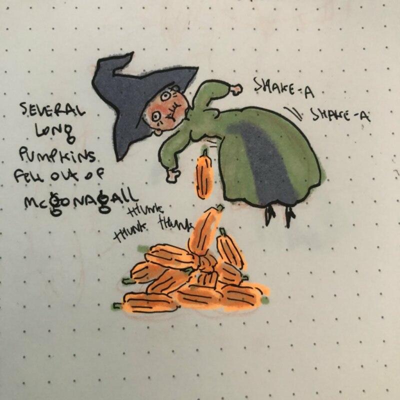 макгонагалл срет тыквами