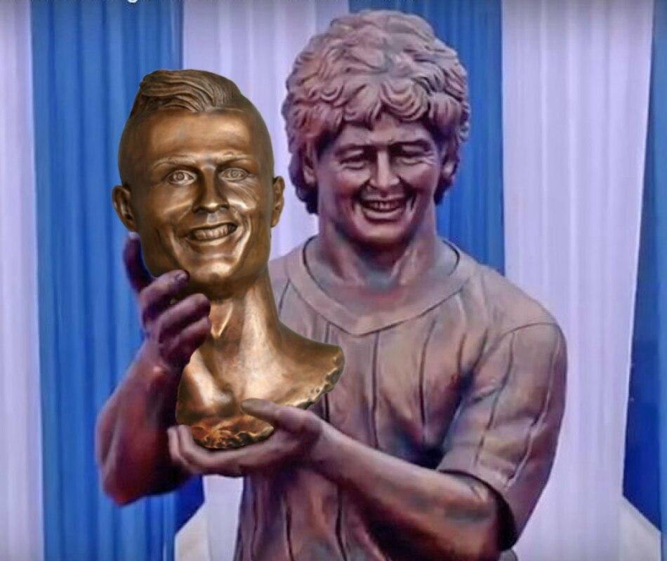 статуя марадоне