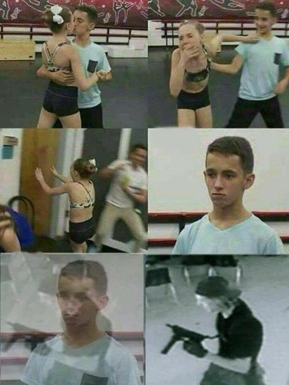 Девочка убегает от мальчика после поцелуя