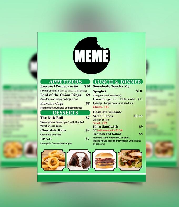 мемный ресторан