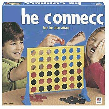 Дети играют в Connect Four