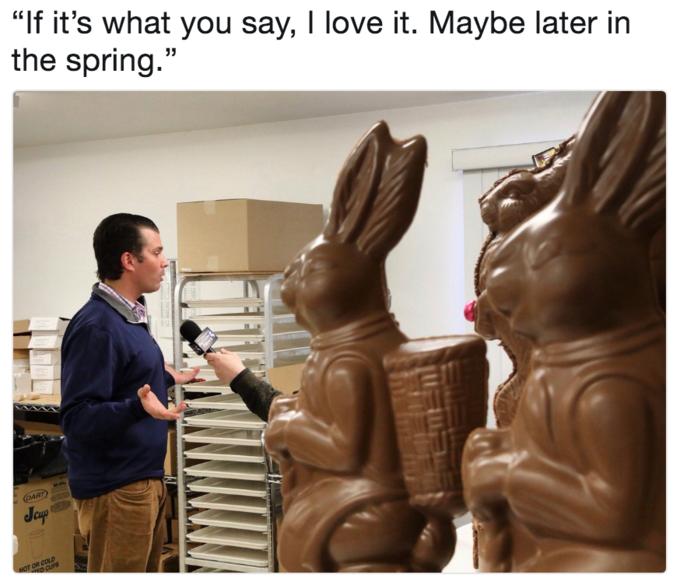 дональд трамп младший и зайцы