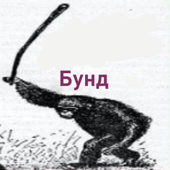 обезьяна с дубиной бунд