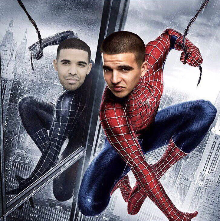 человек паук и его черный двойник мемы