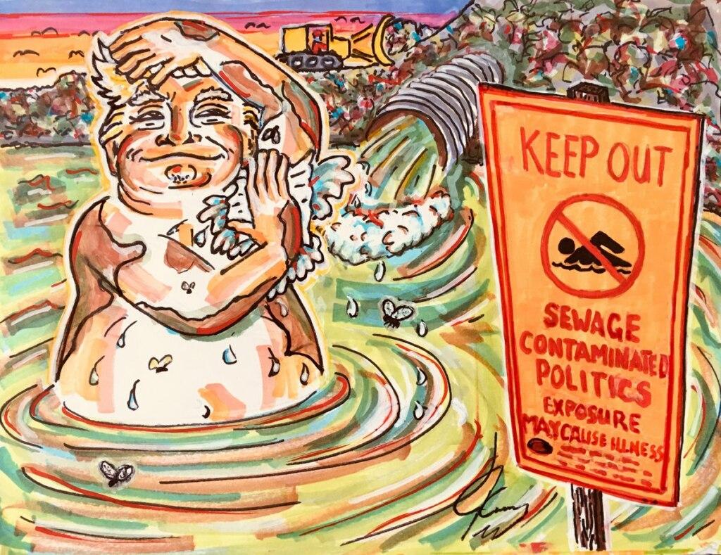 Джим Керри нарисовал карикатуру Трампа и предложил ее в качестве официального портрета