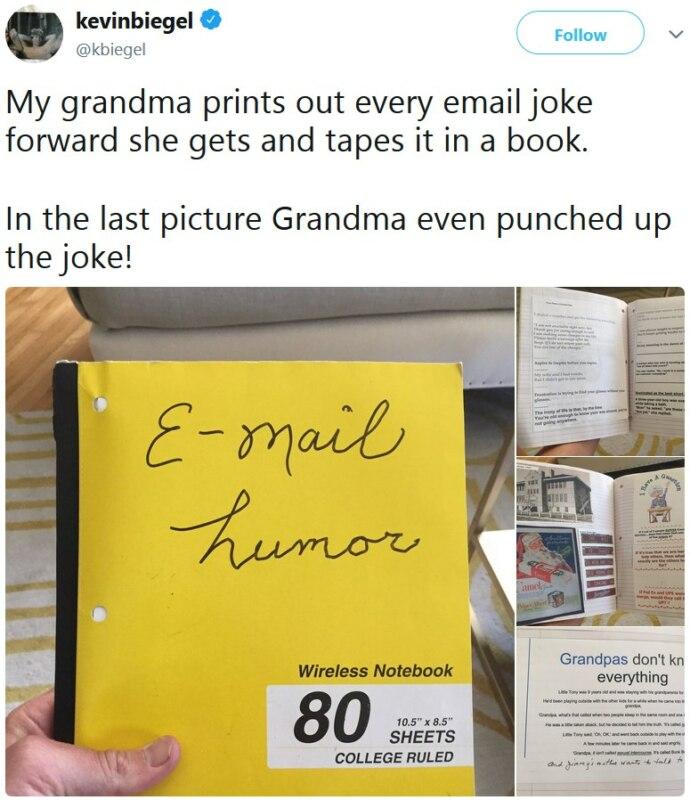 Бабушка открывает интернет