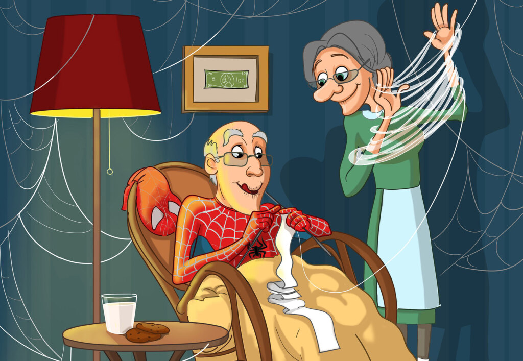 Утро, картинка бабушка и дедушка смешная
