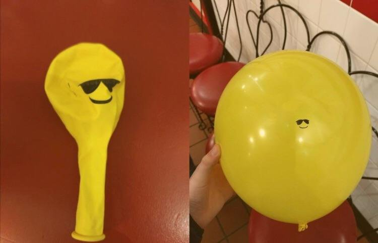 Желтый шарик в очках