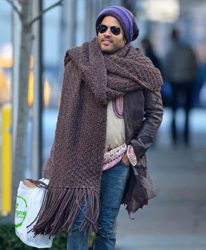 огромный шарф ленни кравиц