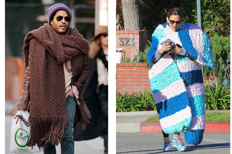 огромный шарф ленни кравиц дженнифер гарнер