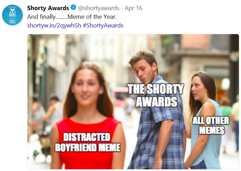 shorty awards мем года