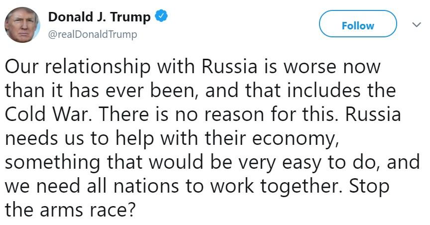 второй твит Трампа