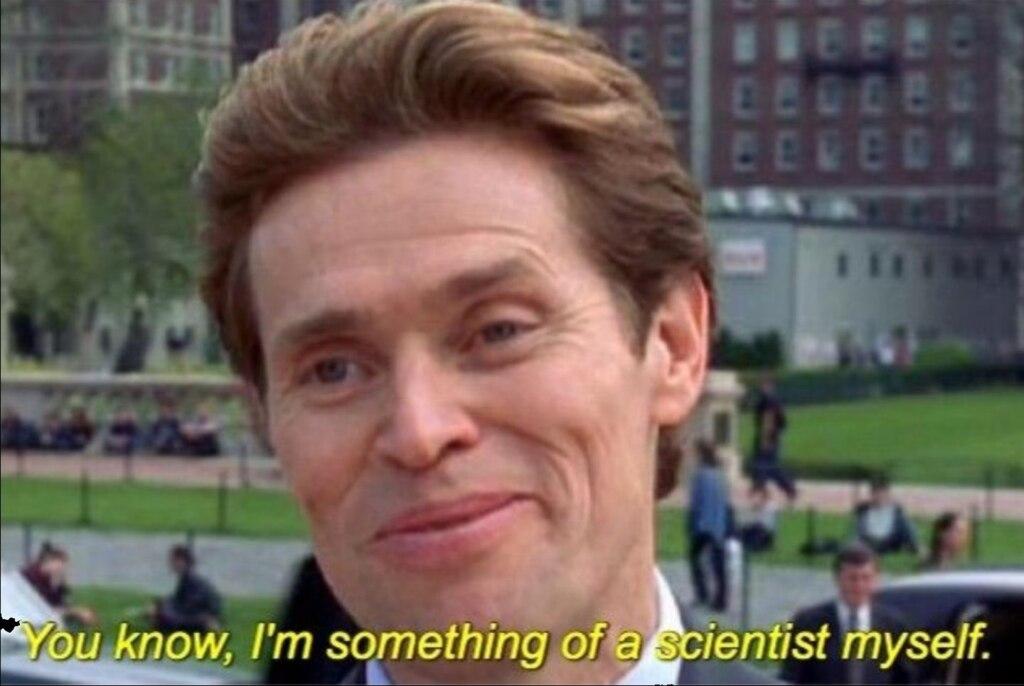 Я и сам своего рода учёный шаблон