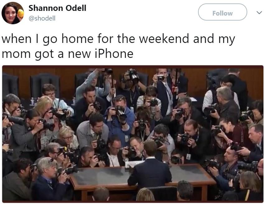 Марк Цукерберг в Конгрессе