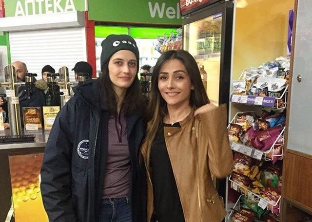 Ева Грин в супермаркете