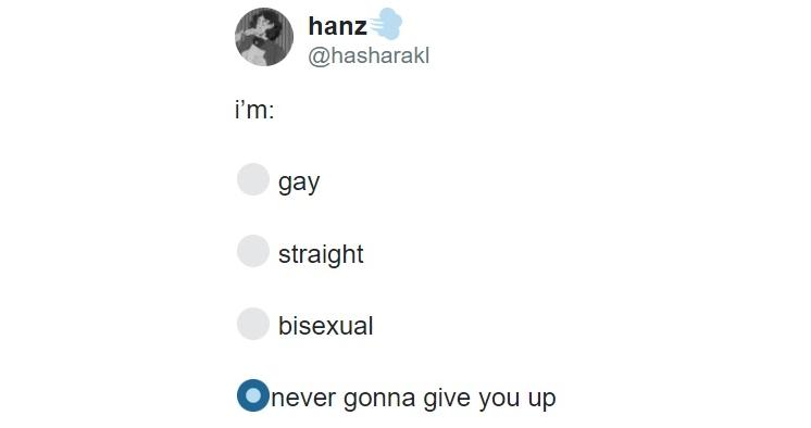 Натурал / гей / ?