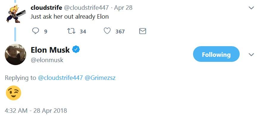 Илон Маск и певица Граймс встречаются. Поклонники обоих оказались к такому не готовы