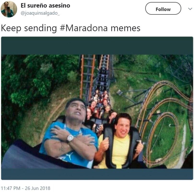 Марадона разошёлся на матче Аргентины