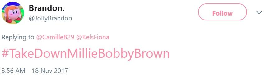 Тролли атаковали Милли Бобби Браун
