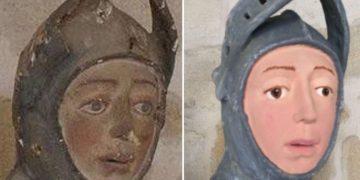 Реставрация превратила статую в посмешище