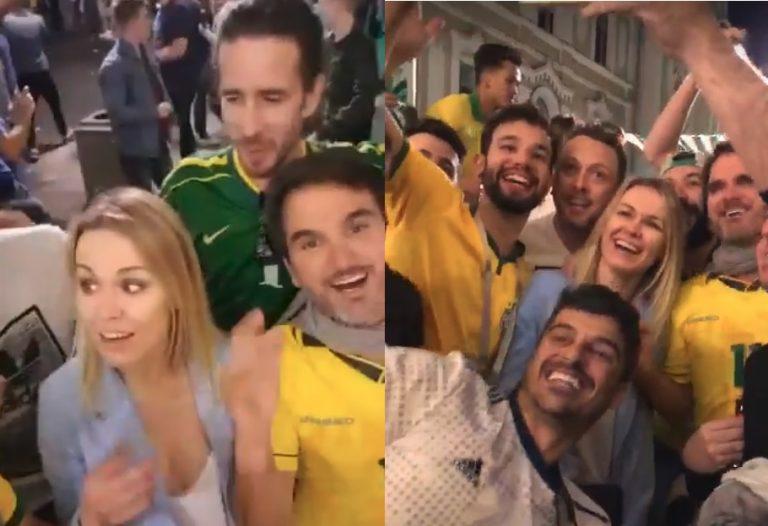 Бразильцы спели россиянке оскорбительную песню