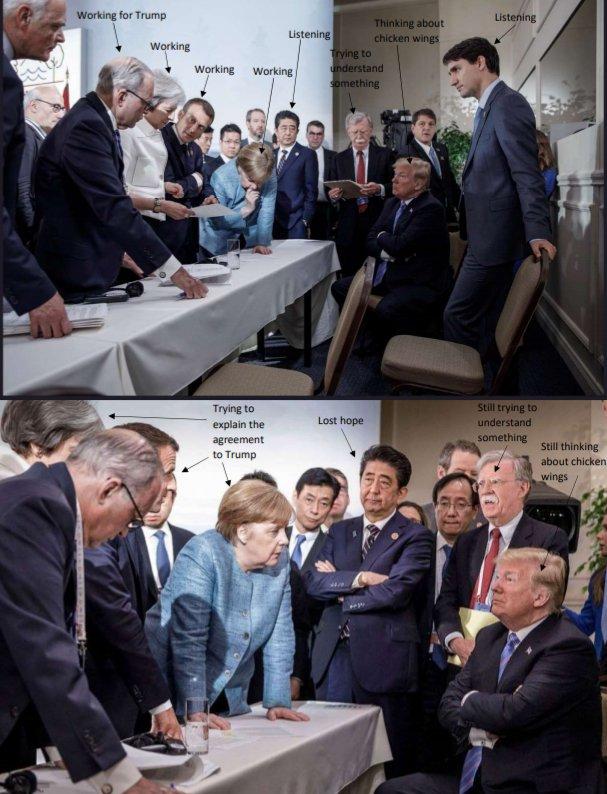 Трамп сидит мем