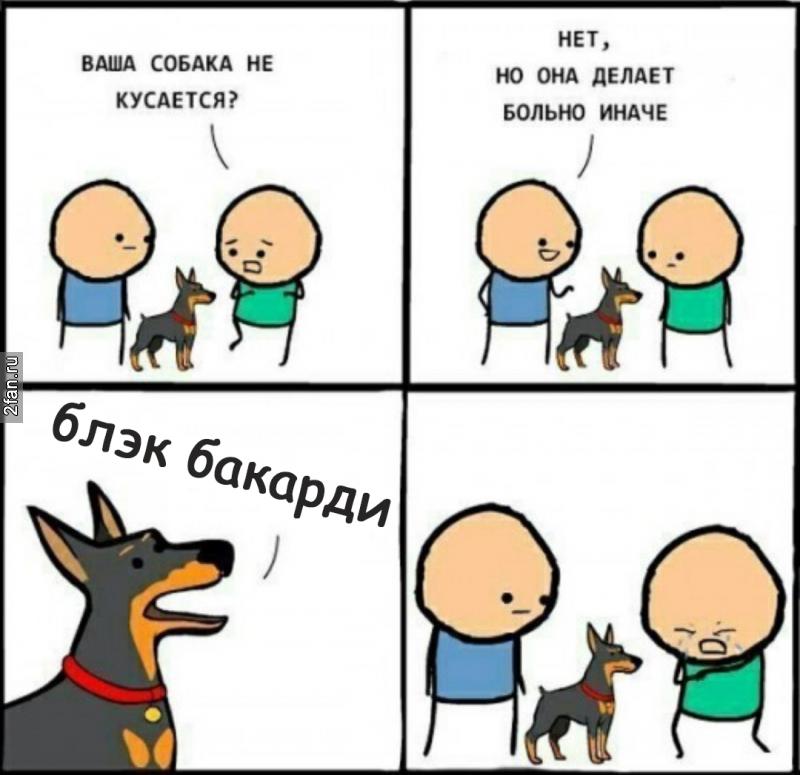 собака делает больно мем