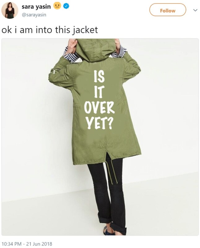Куртка Мелании Трамп