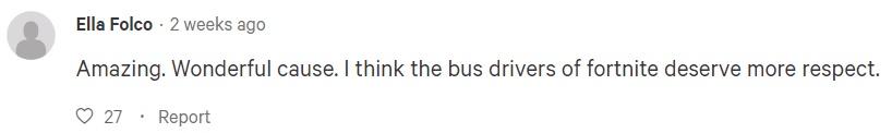 Игроки в Fortnite хотят поблагодарить водителя автобуса
