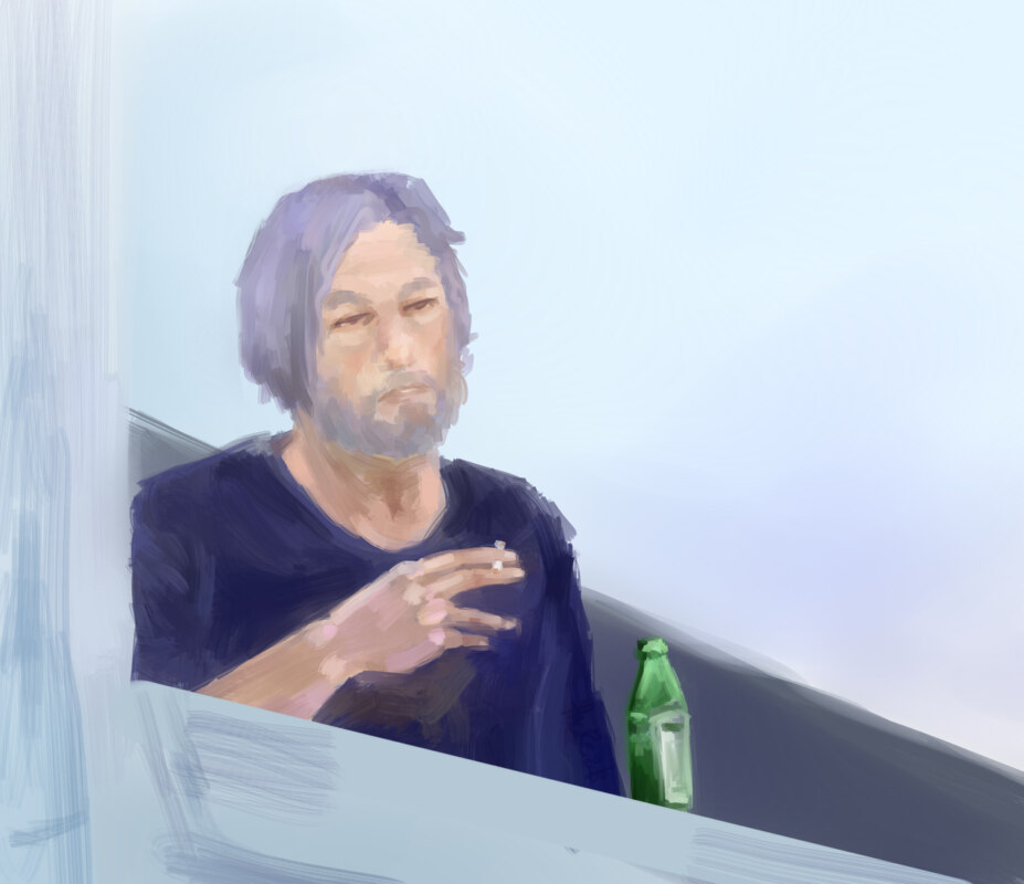 Бен Аффлек с сигаретой