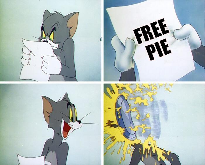 Том и кремовый пирог