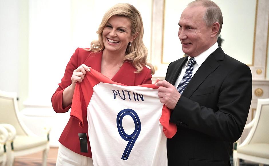 Футболки от президента Хорватии