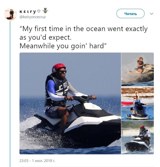 Jay Z на гидроцикле