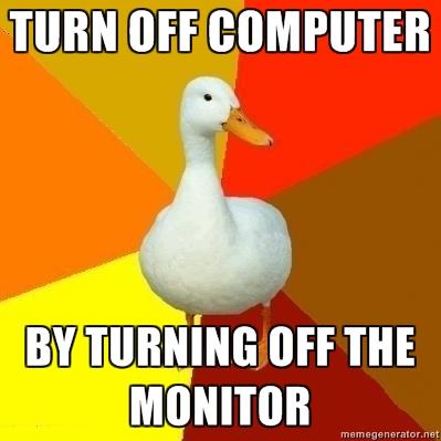 Технически необразованная утка