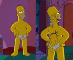 Гомер с жиром за спиной